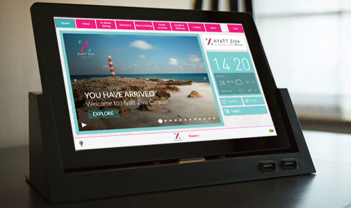 Hyatt Ziva Cancun Updates Hotel Bedrooms with Crave In-Room Tablets