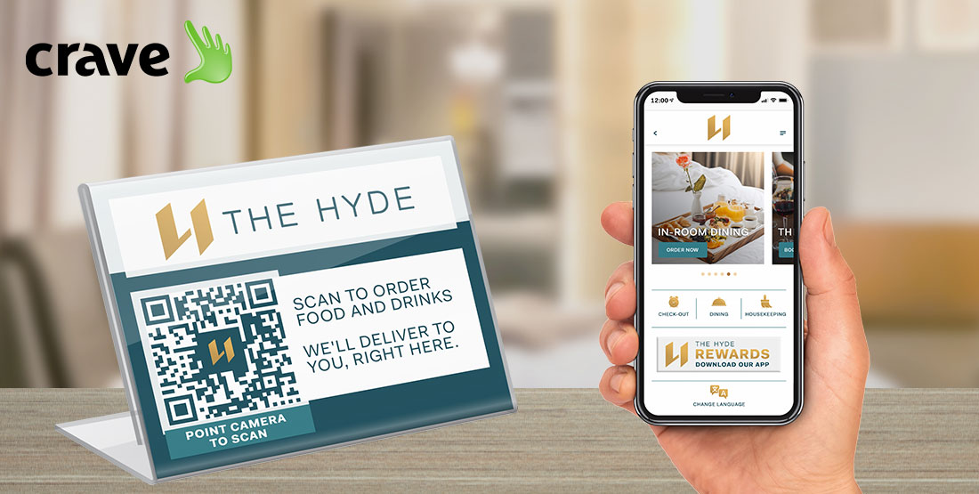 AppLess mobile ordering in hotel room