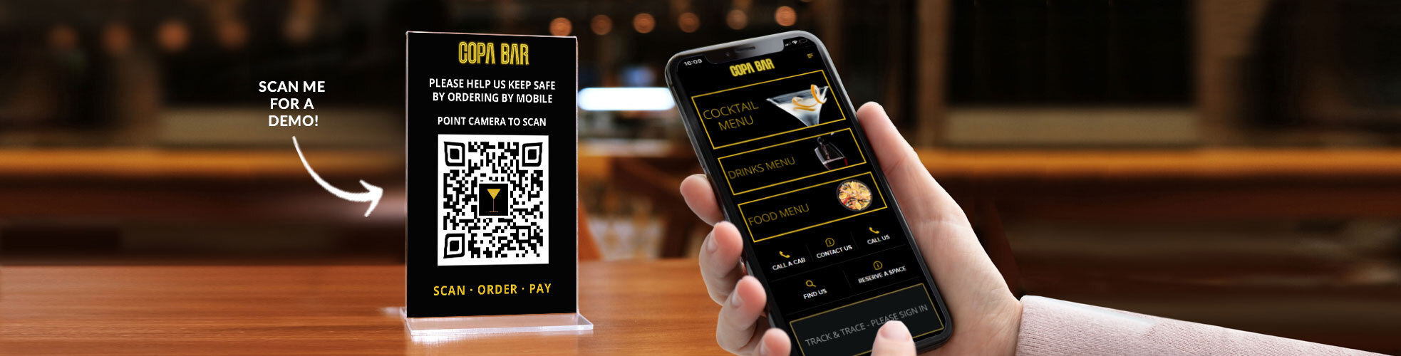 ServeSafely Mobile Order and Pay Demo