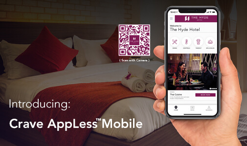 Hotel App Problem Solved as Crave Interactive Launch AppLess™ Mobile for Instant Access to Guest Services