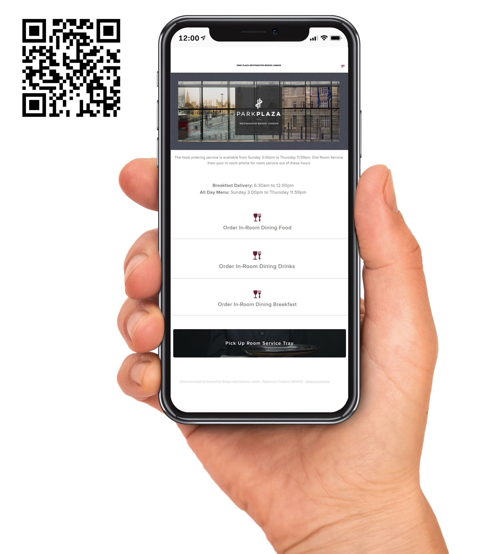 Mobile ordering at park plaza
